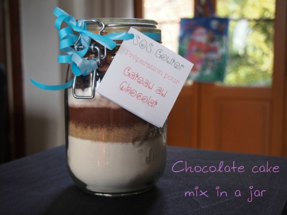 Chocolate cake mix in a jar