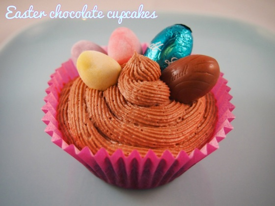 Easter chocolate cupcakes